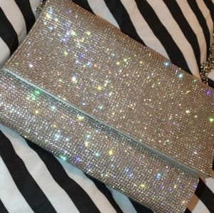 Diamond covered clutch purse. (With chain strap)